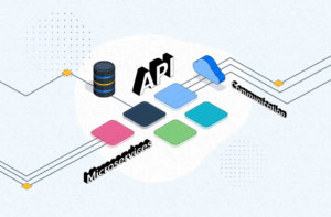 Communication in event-driven microservices architecture